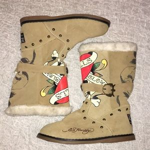 Ed Hardy - Light Brown Retro Boots - 9